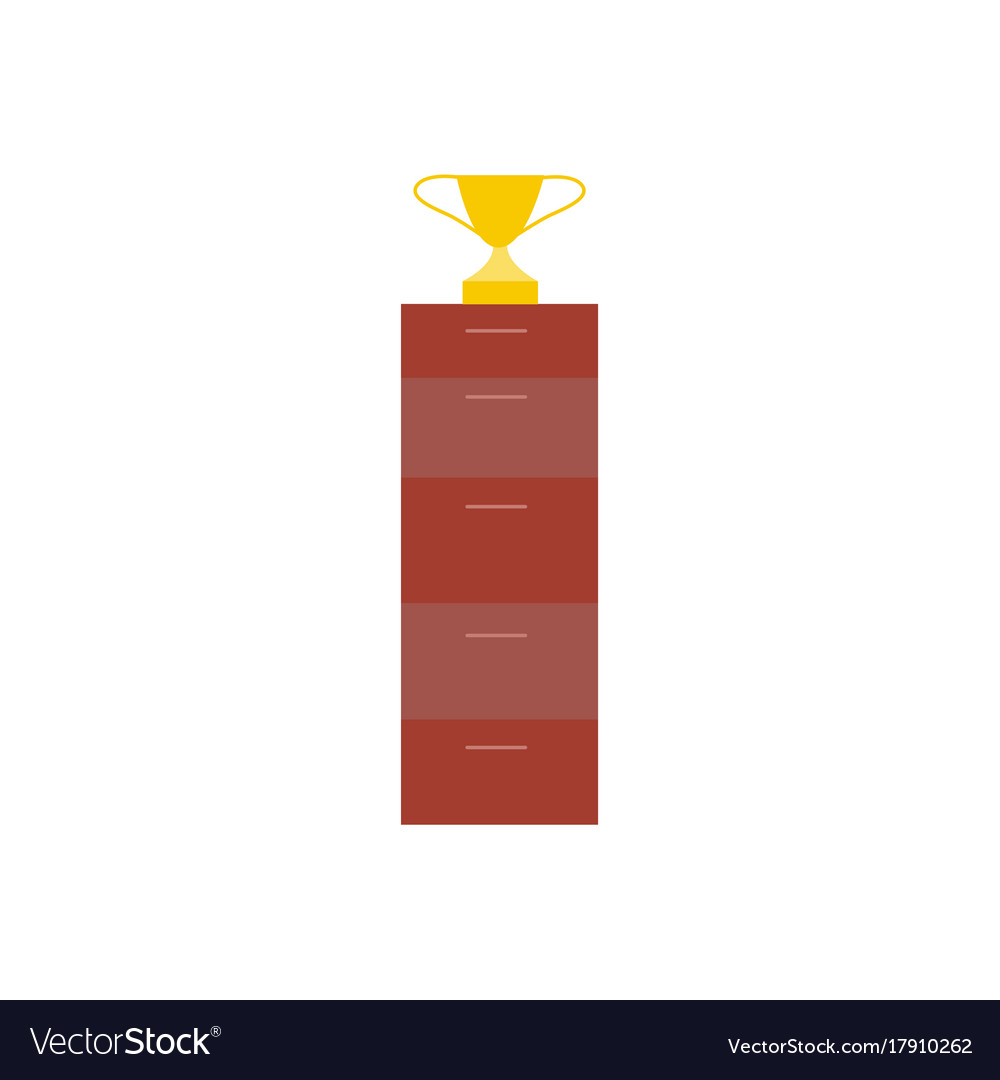Filing Cabinet Icon Flat Flat Style Icon Of Winner Cup Trophy Award