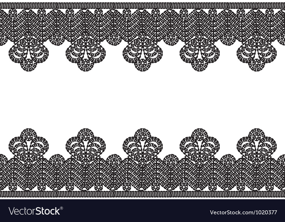White background with black lace border Royalty Free Vector - black border background