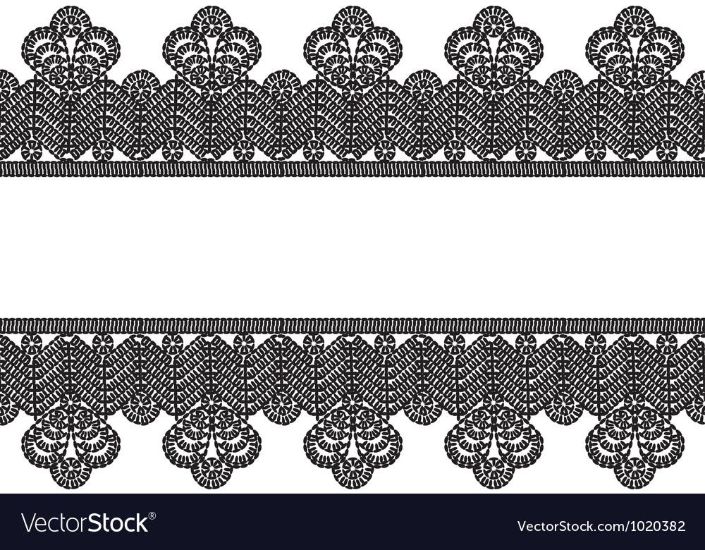 White background with black lace border frame Vector Image - black border background