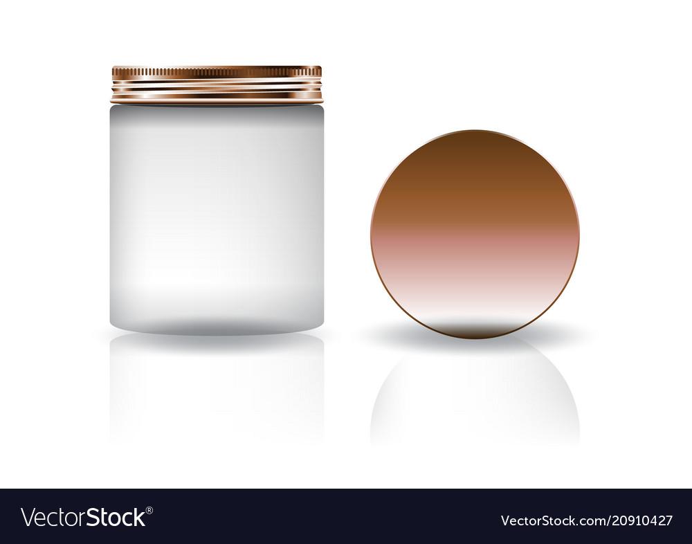 Cosmetic Storage Jars Cosmetic Jars Flower Mark Cover