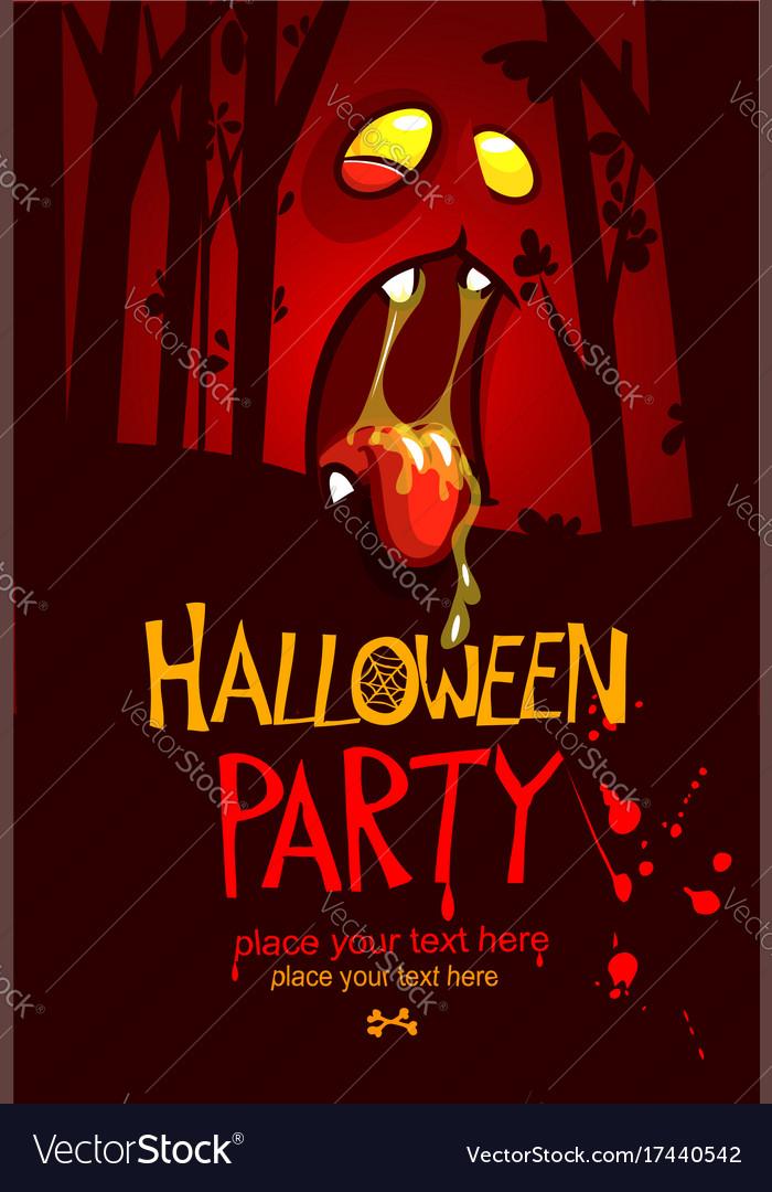 Cartoon halloween party invitation Royalty Free Vector Image