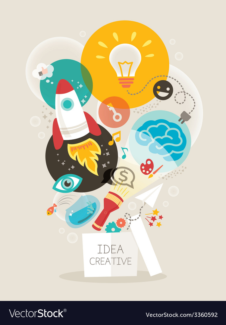 Creative Idea Creative Idea Think Out Of The Box Vector Image On Vectorstock