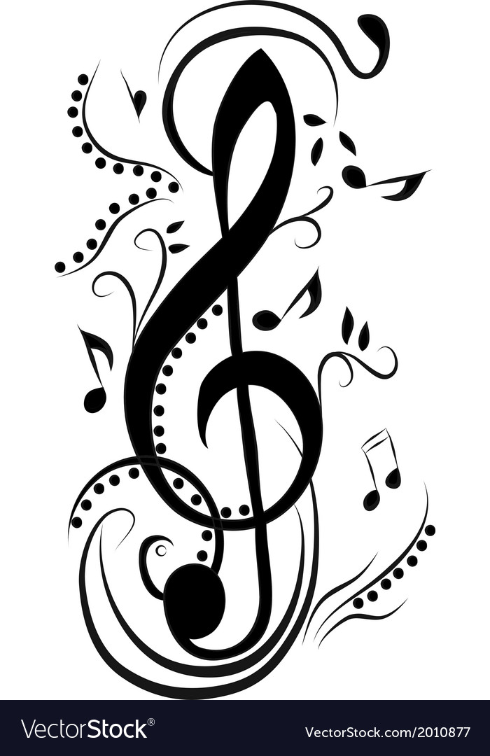 Abstract treble clef Royalty Free Vector Image