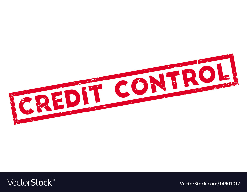 Credit control rubber stamp Royalty Free Vector Image