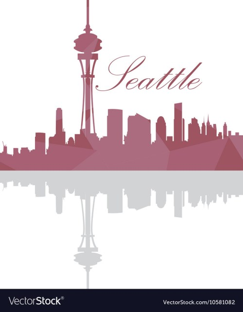 Medium Of Seattle Skyline Outline