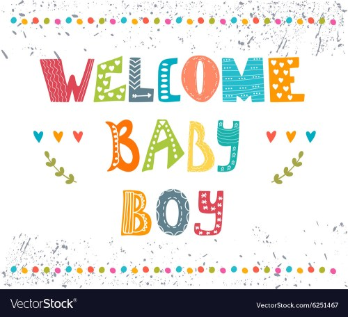 Medium Of Welcome Baby Boy