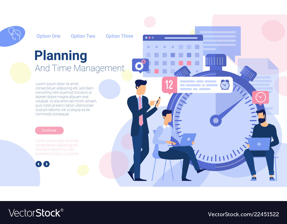 Business timeline planning Royalty Free Vector Image