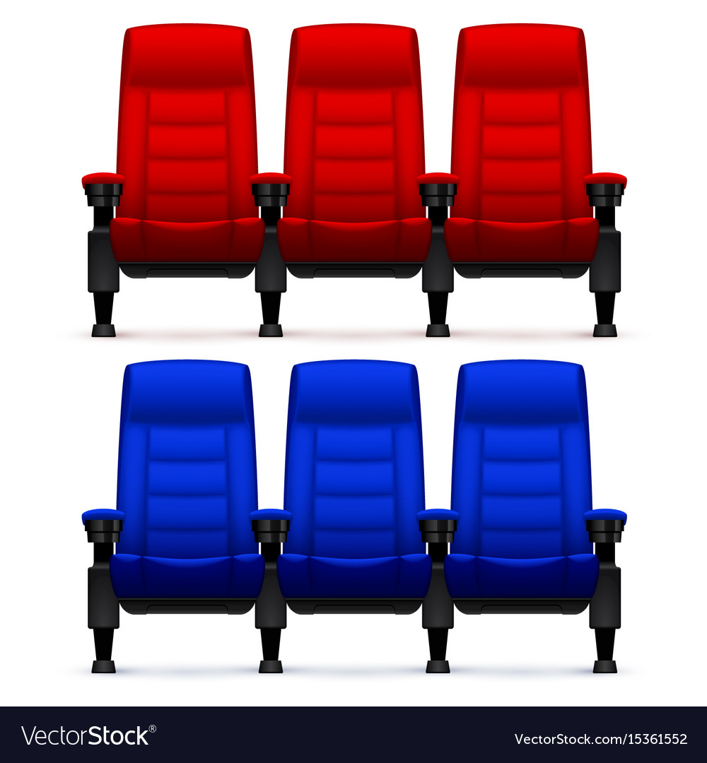 Chairs Comfortable Cinema Empty Comfortable Chairs Realistic Movie