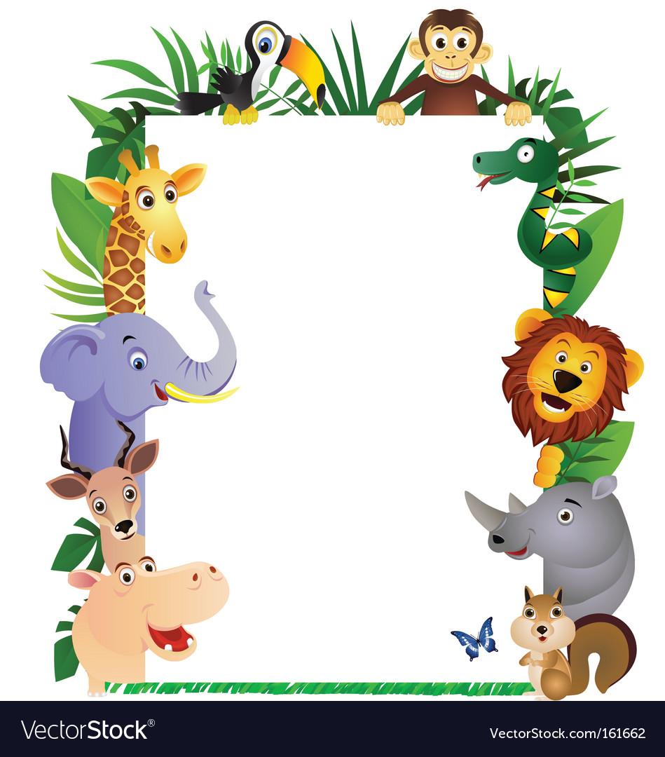 Free Fall Facebook Wallpaper Animal Cartoon Frame Royalty Free Vector Image