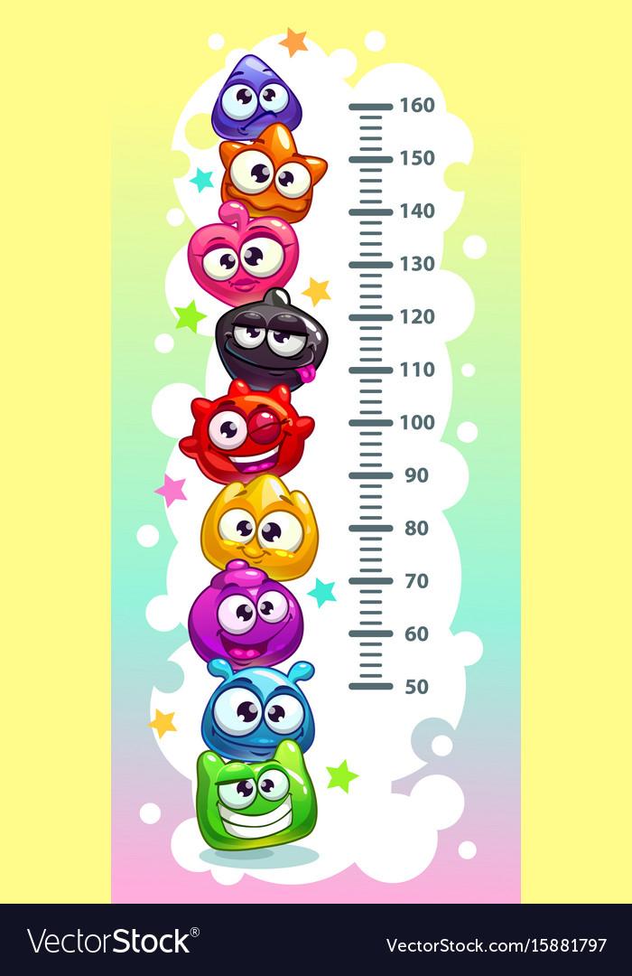 Kids height chart Royalty Free Vector Image - VectorStock - kids chart