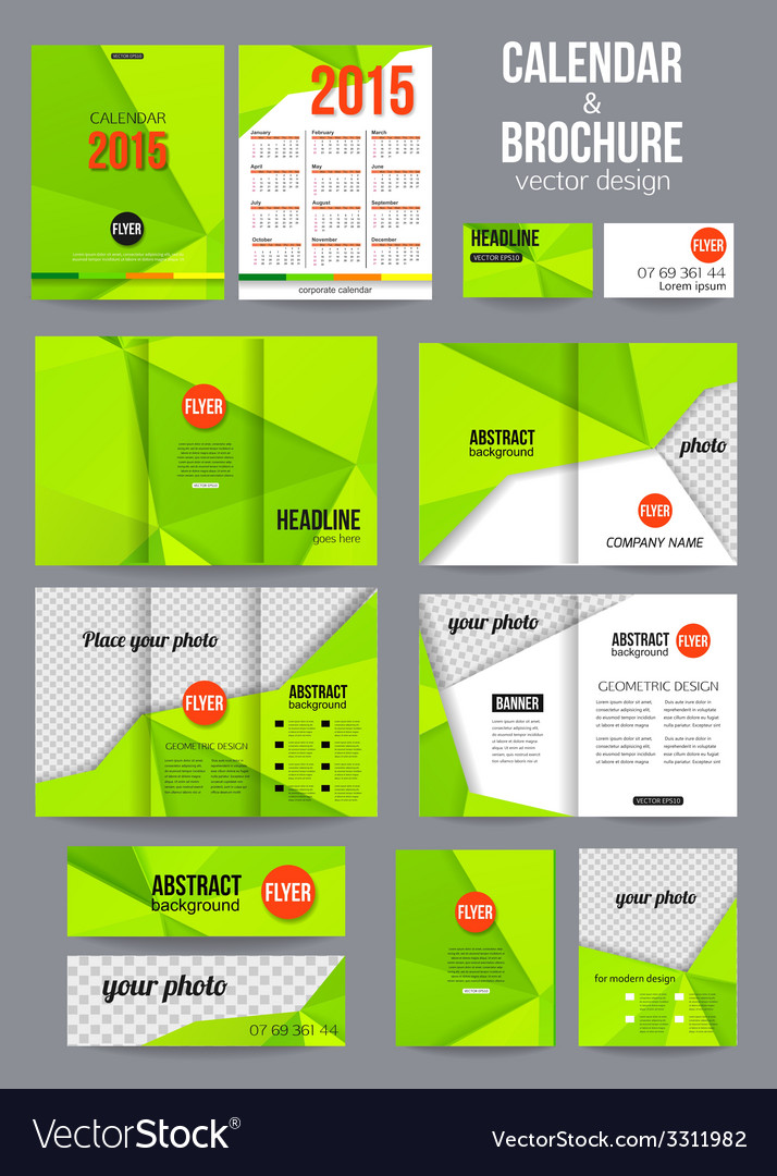 Set of corporate business stationery templates Vector Image
