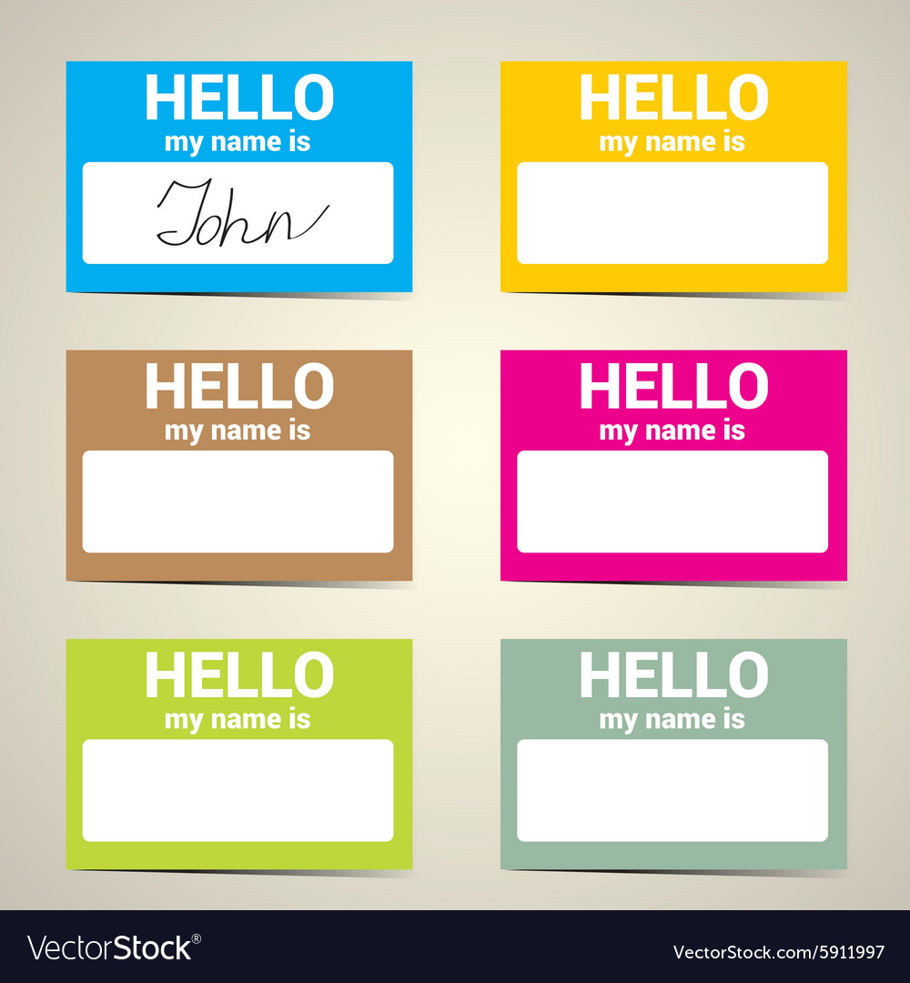 Superb Hello My Name Is Name Tag Set Vector Image Hello My Name Is Name Tag Set Royalty Free Vector Image Hello My Name Is Tagalog Hello My Name Is Pet Tag inspiration Hello My Name Is Tag