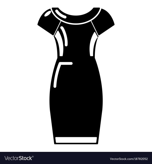 Riveting Dress Icon Black Style Vector Image Dress Icon Black Style Royalty Free Vector Image Black Dresses Women Black Dress Pattern On Wow