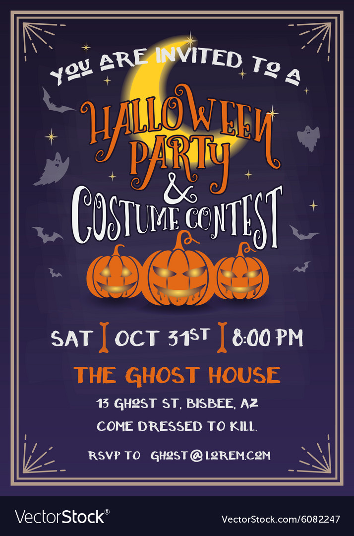 Halloween Party Invitation Design Royalty Free Vector Image
