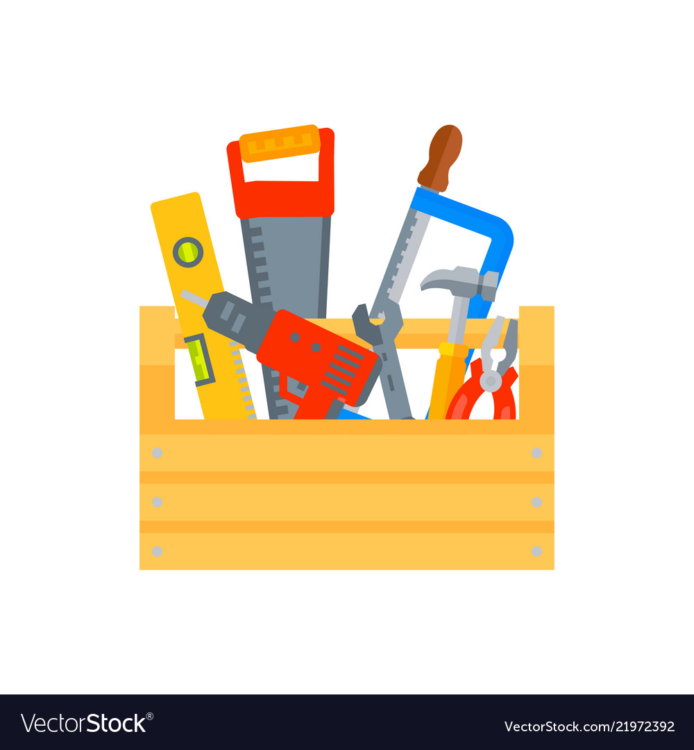 Construction Repair Repair And Construction Tools Concept Vector Image On Vectorstock