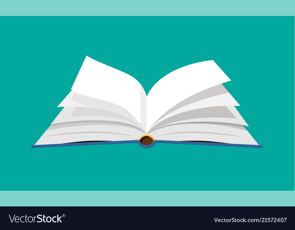 Open book with an upside down pages Royalty Free Vector