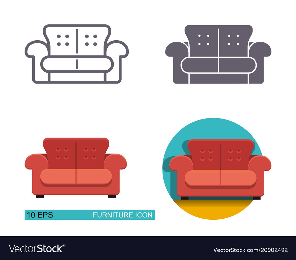 Sofa Vector Free Icons Of The Sofa