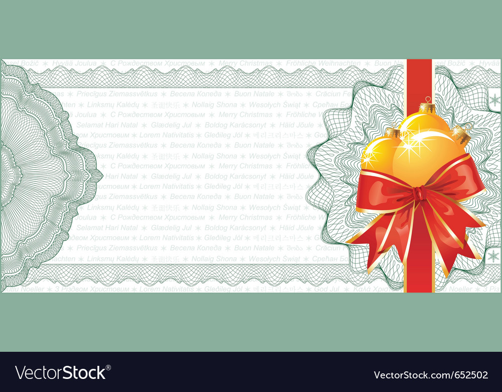 Christmas gift certificate Royalty Free Vector Image