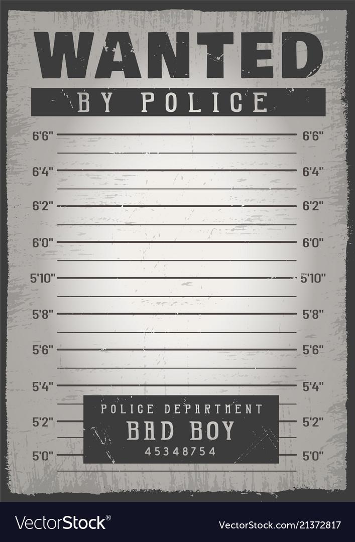Police mugshot background Royalty Free Vector Image