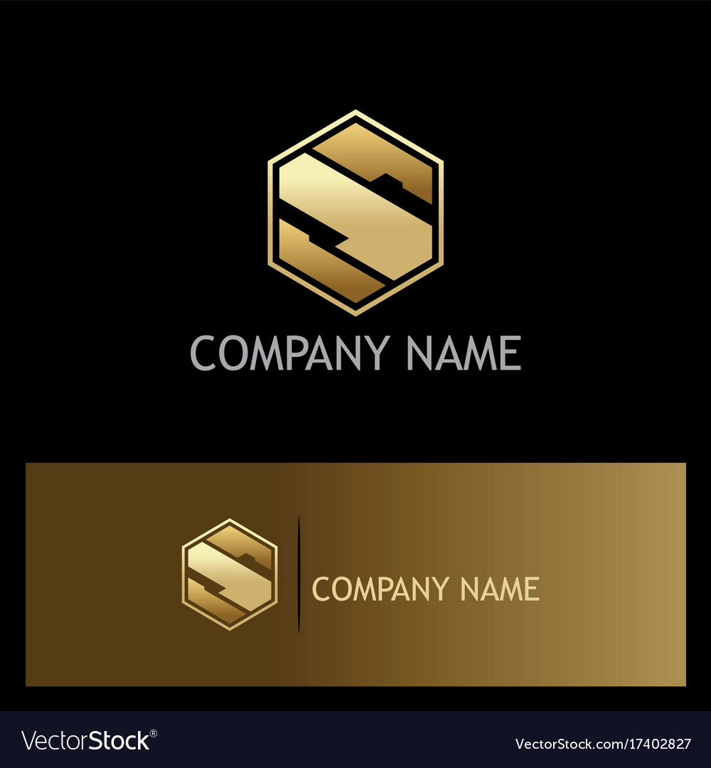 Gold S Letter S Company Gold Logo Vector Image On Vectorstock