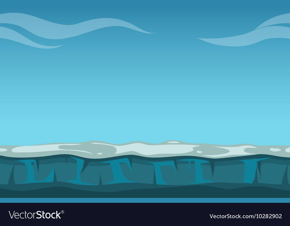 Deep blue sky over still ocean background Vector Image