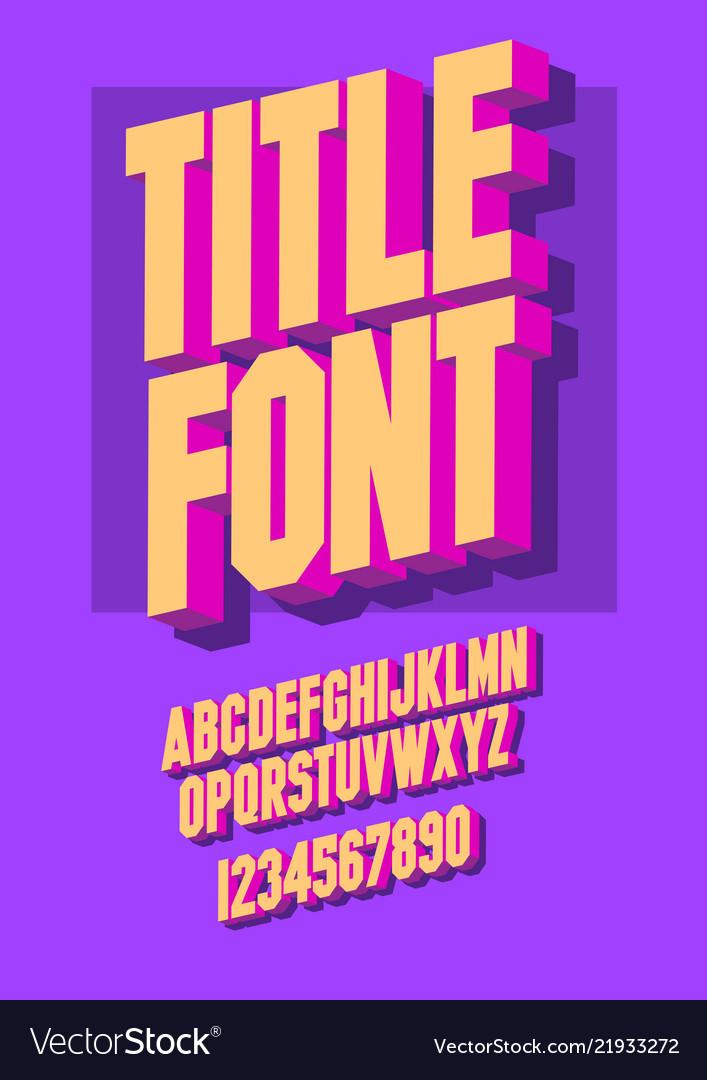 3d font alphabet letters vector illustration 3d font alphabet