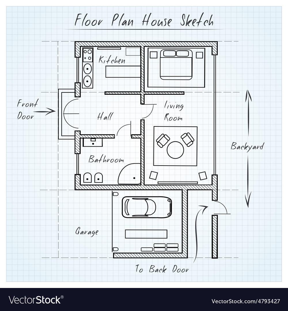 Floor Plan House Floor Plan House Sketch
