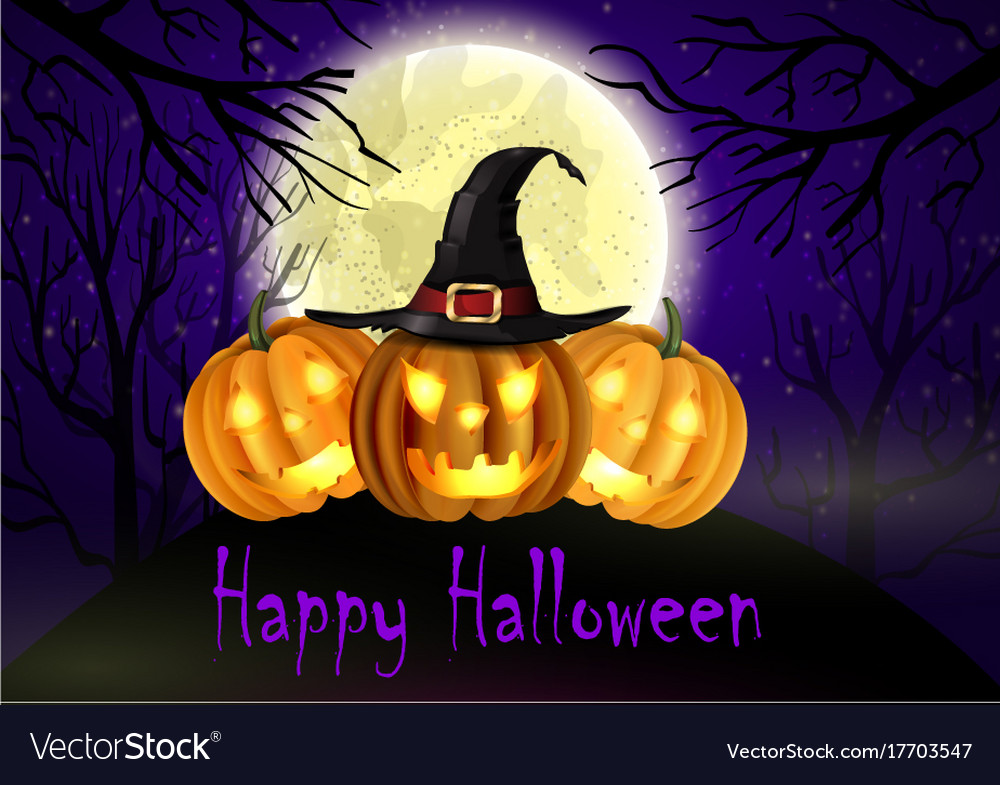 Halloween spooky background Royalty Free Vector Image