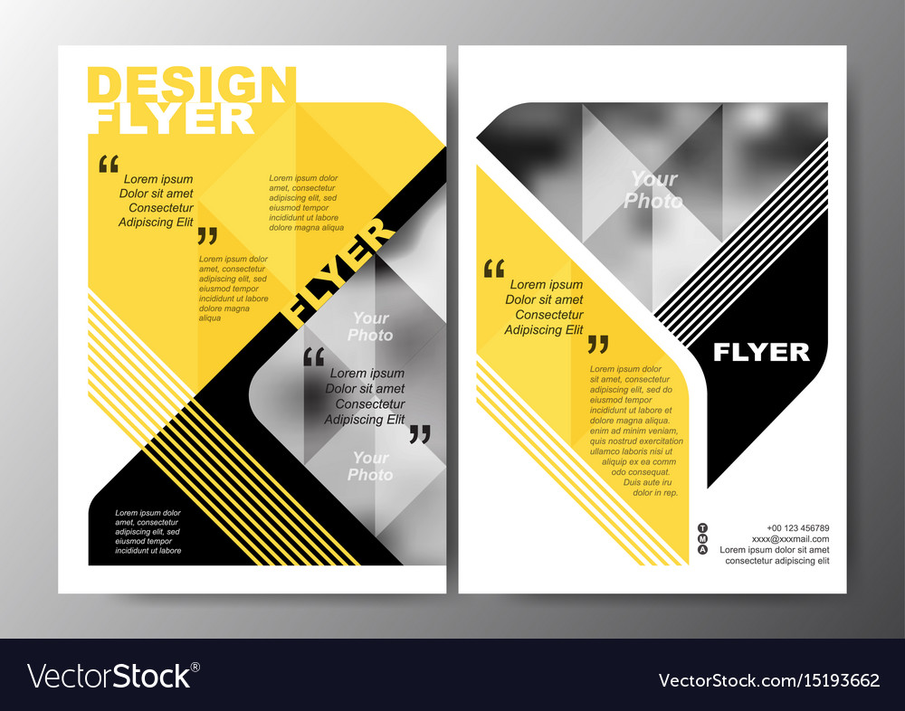 Minimal modern poster brochure flyer design layout