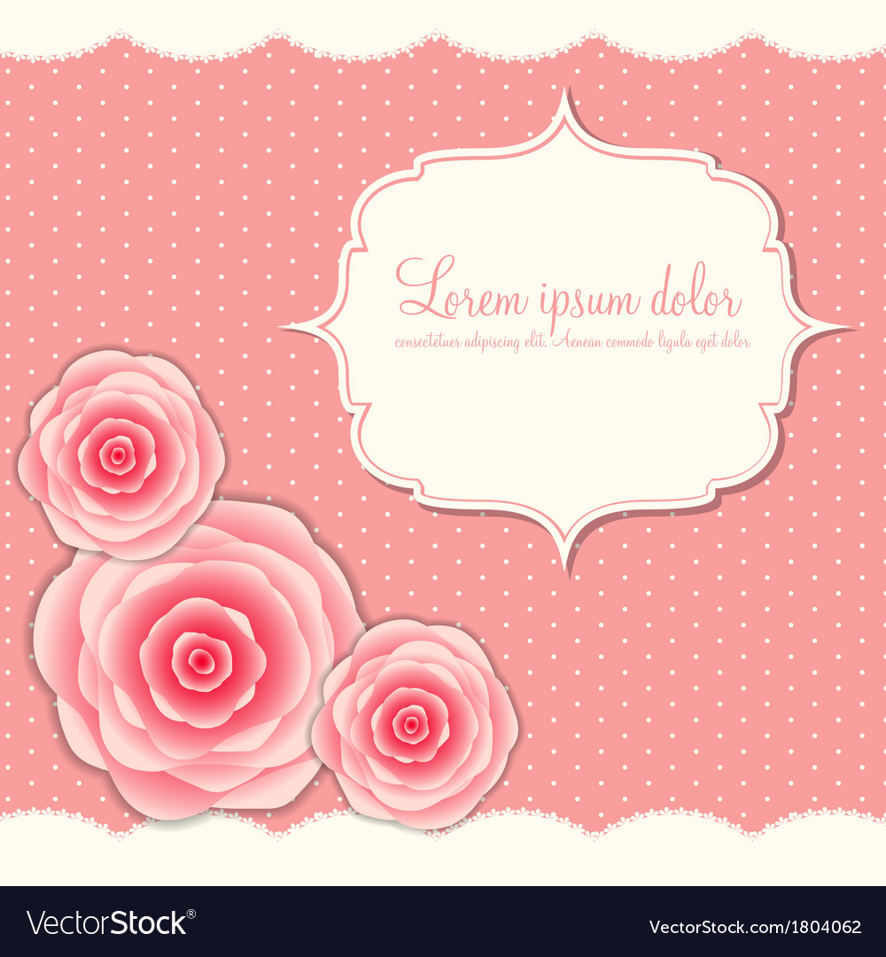 Commode Rose Valentines Day Card With Rose Flowers