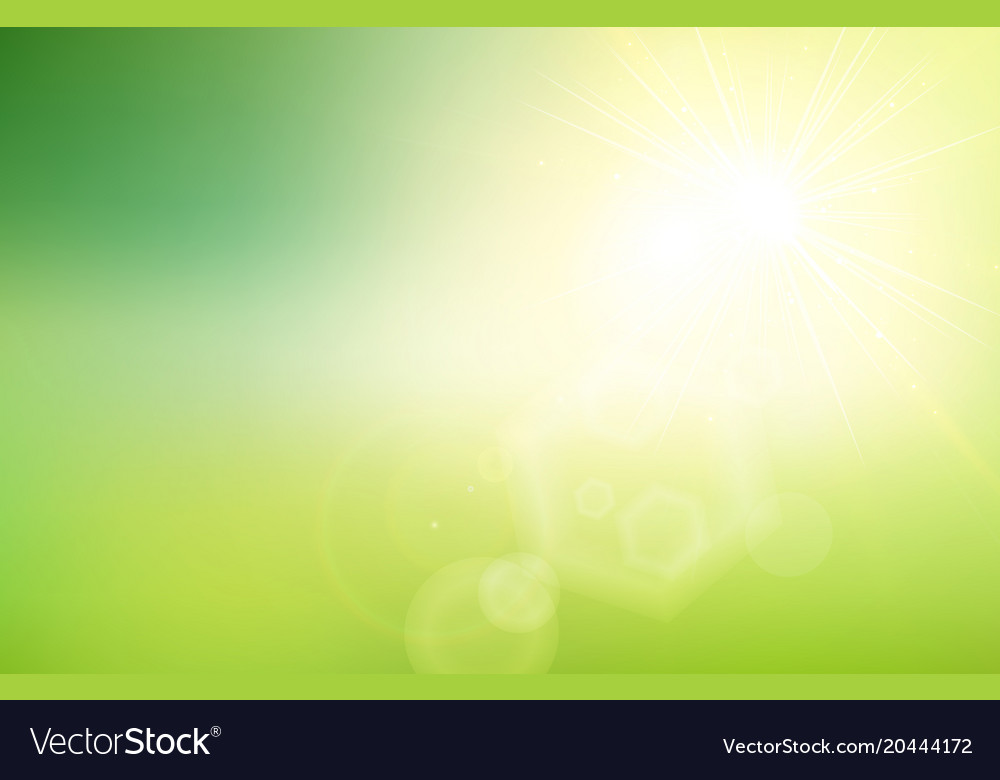 Abstract green nature gradient blurred background Vector Image