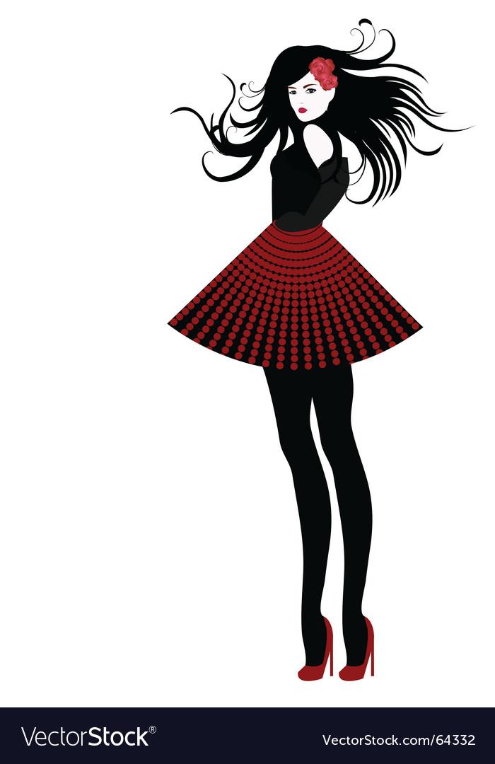 Fashion girl Royalty Free Vector Image - VectorStock