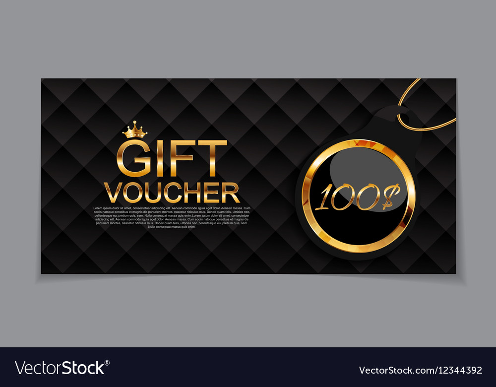 Gift Voucher Template for Discount Coupon Vector Image