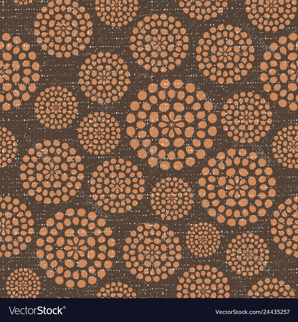 Brown Seamless Fabric Textures Brown Circles Fabric Texture Seamless Pattern