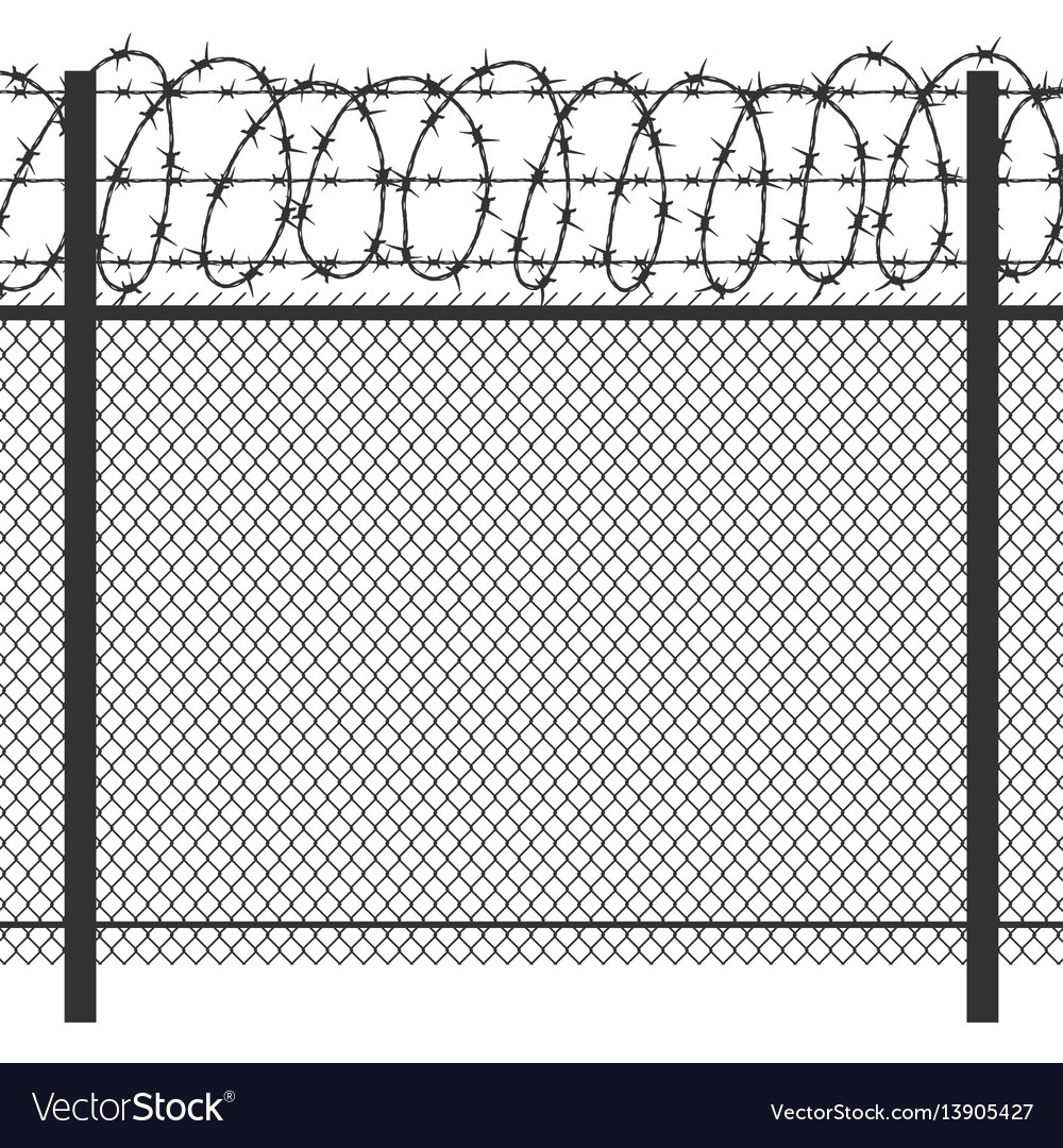Wire Fencing Prison Privacy Metal Fence With Barbed Wire