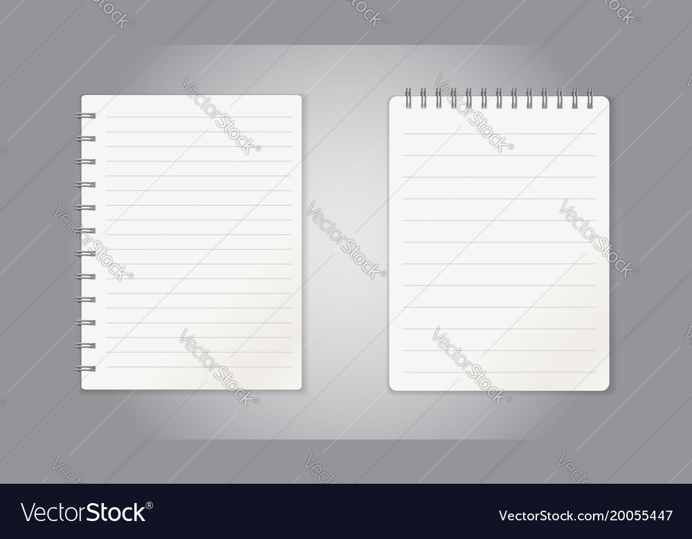 Realistic template notepad with spiral blank Vector Image - notepad paper template