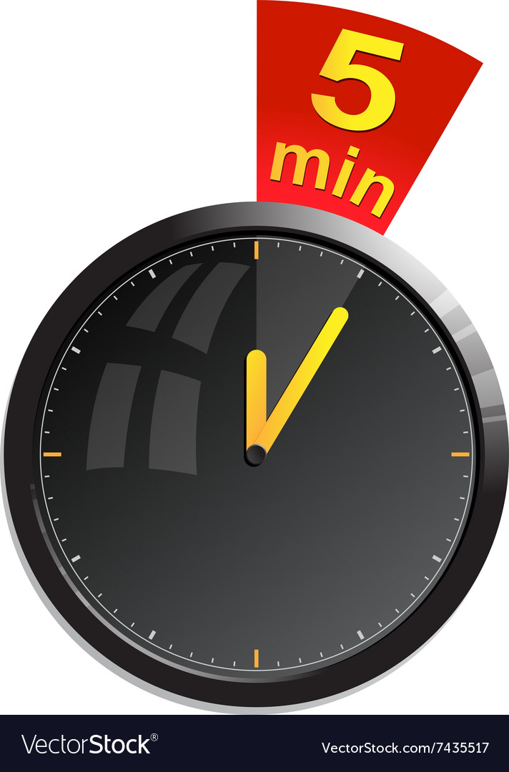Timer 5 minutes Royalty Free Vector Image - VectorStock