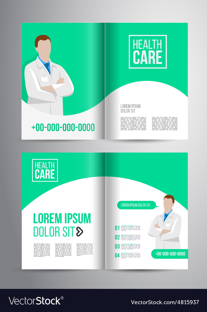 Healthcare brochure Royalty Free Vector Image - VectorStock