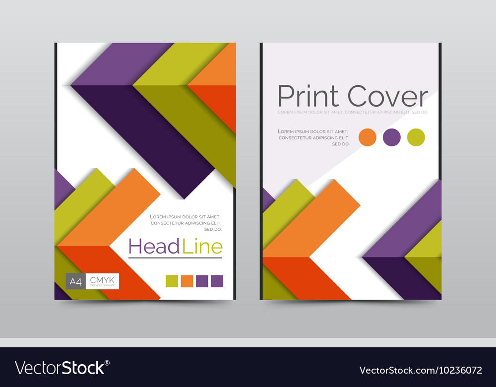 Geometric brochure front page Royalty Free Vector Image