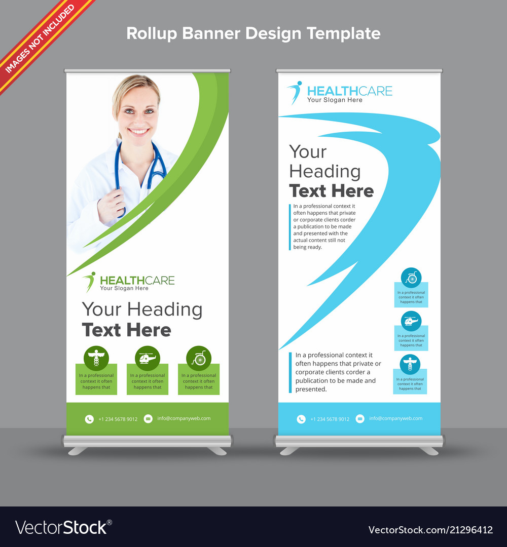 Rollup Creative Green And White Rollup Banner With Curvy