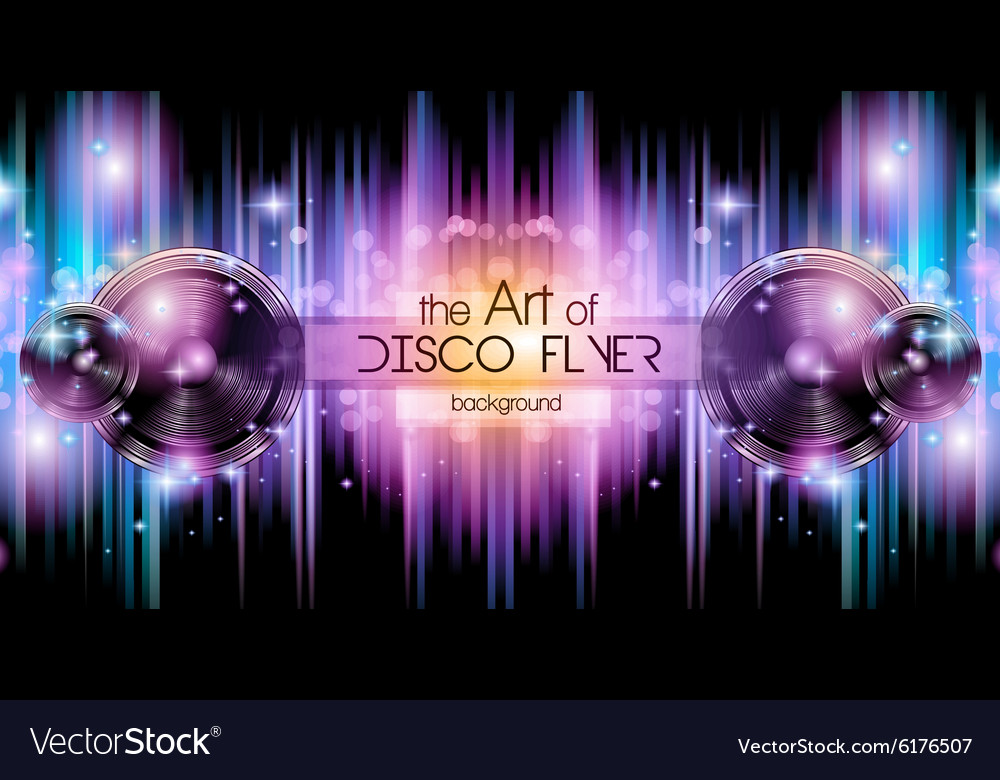 Disco Club Flyer Template for your Music Nights Vector Image