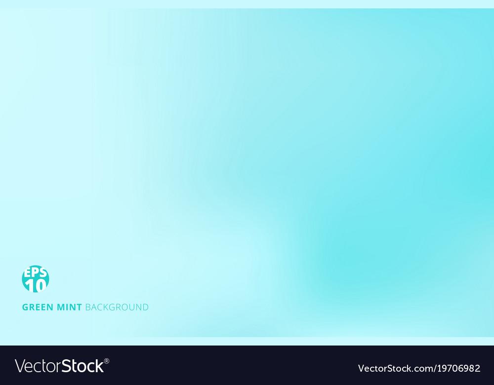 Empty gradient green mint pastel color studio Vector Image