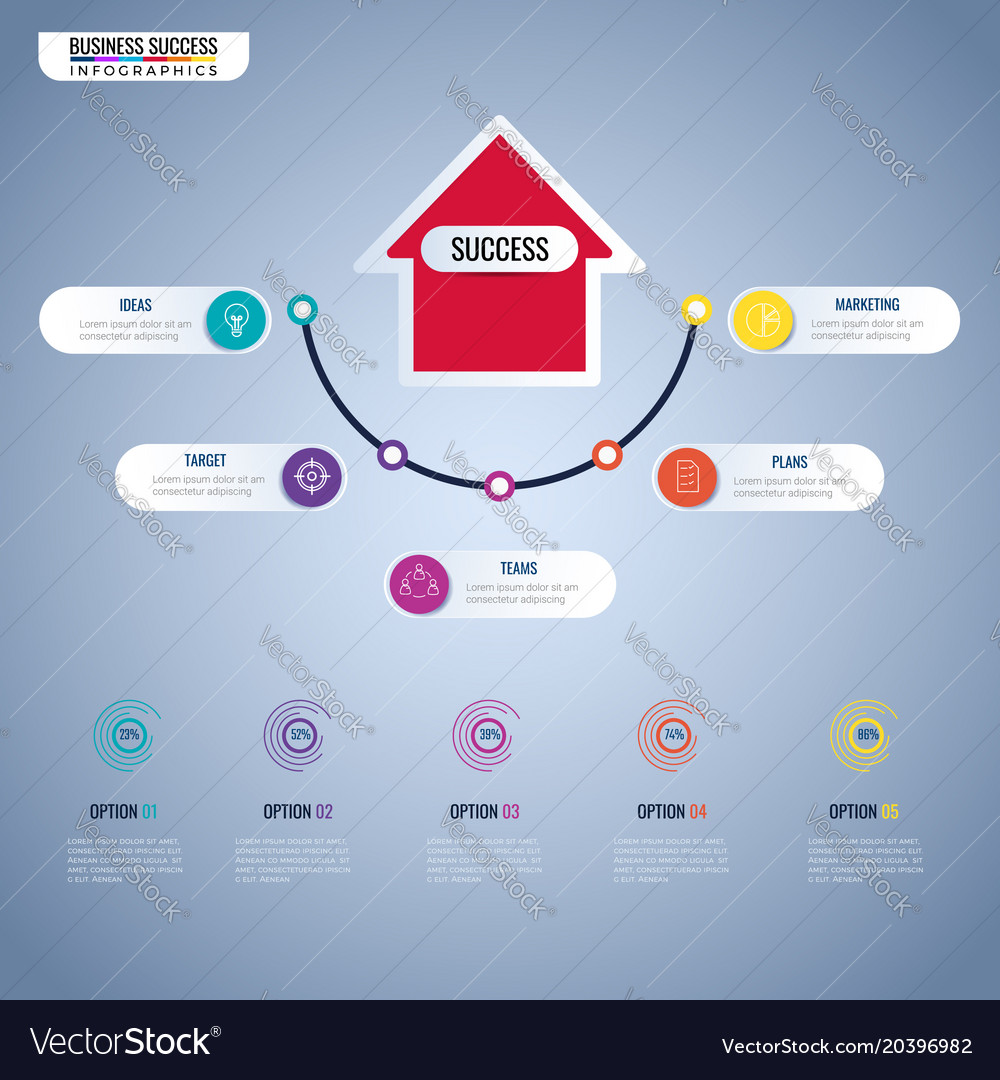 Business Step Step To Success Business Concept Infographics Vector Image On Vectorstock