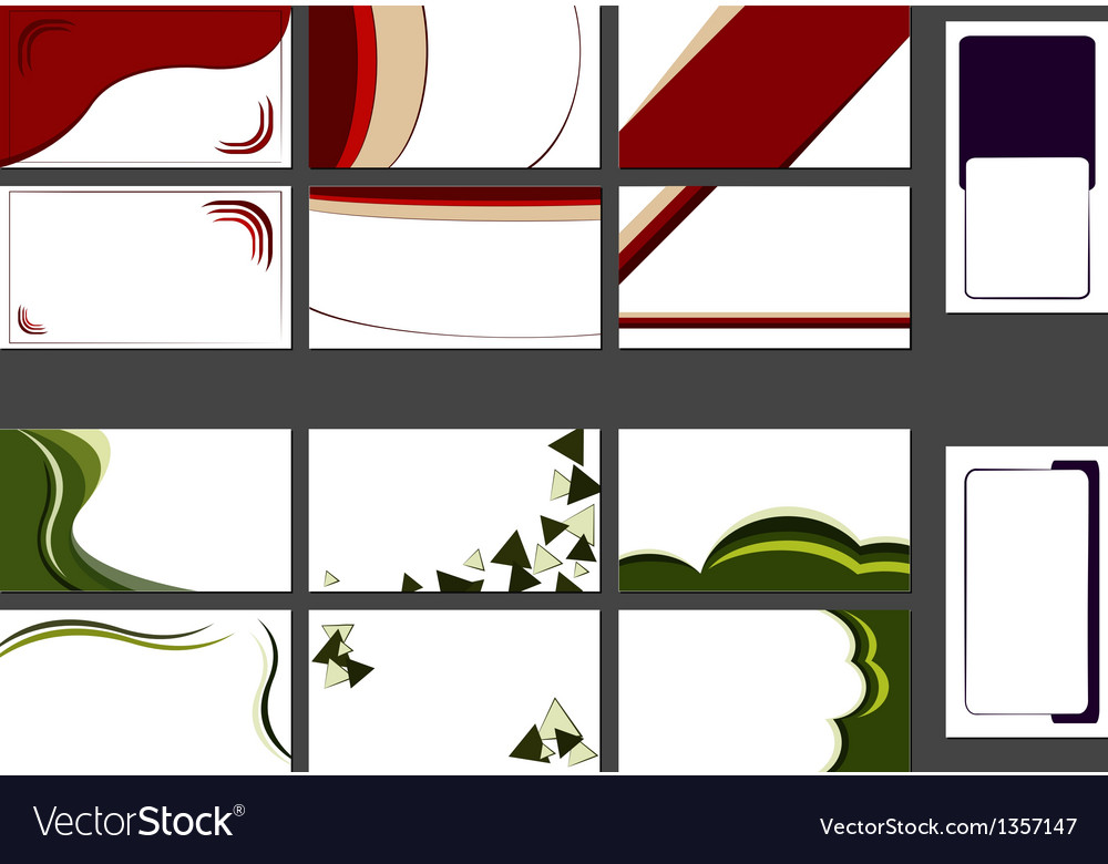 Backgrounds for business cards Royalty Free Vector Image
