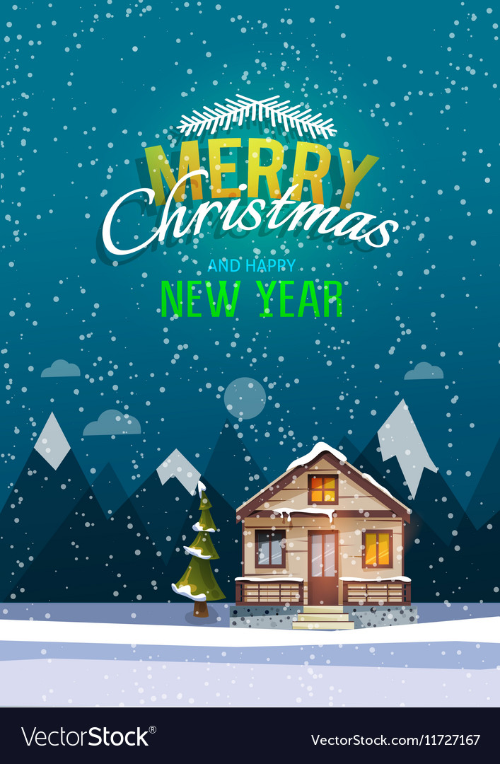 christmas and new year greeting card sweet family vector image happy new year greetings for