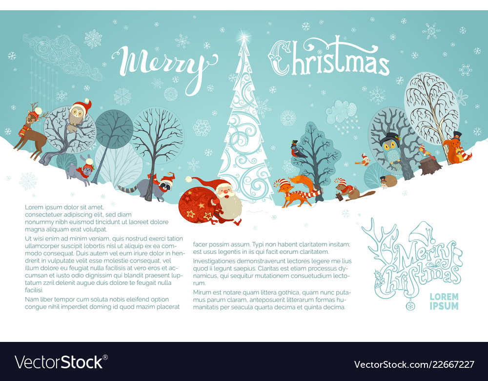 Merry christmas background Royalty Free Vector Image