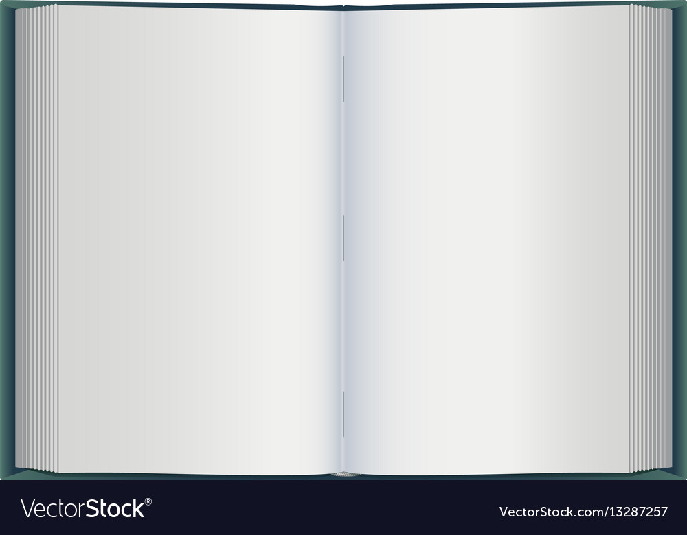 Open book with white blank pages Royalty Free Vector Image