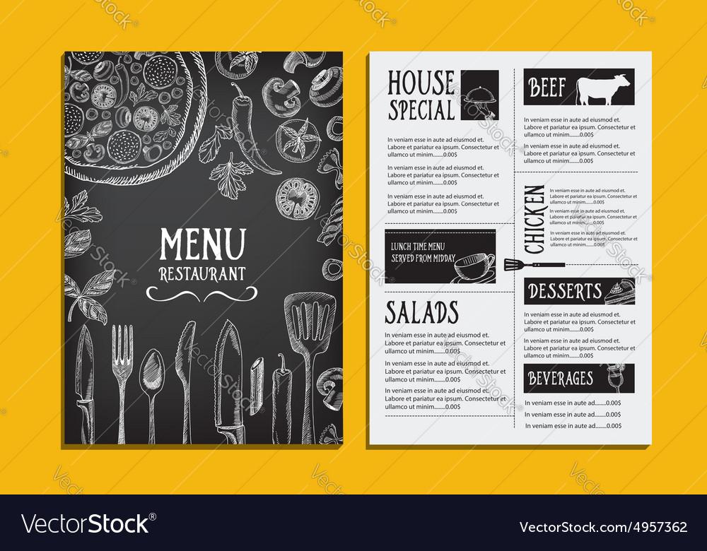 Cafe menu restaurant brochure Food design template - menu design template