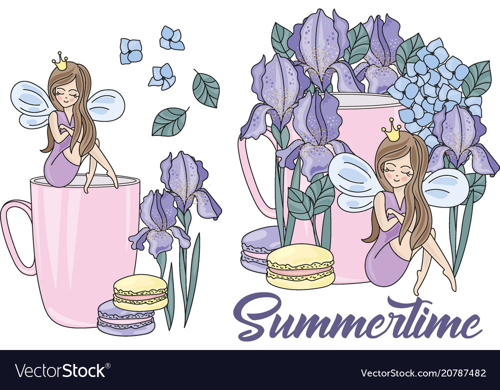 Clip arts summertime color Royalty Free Vector Image