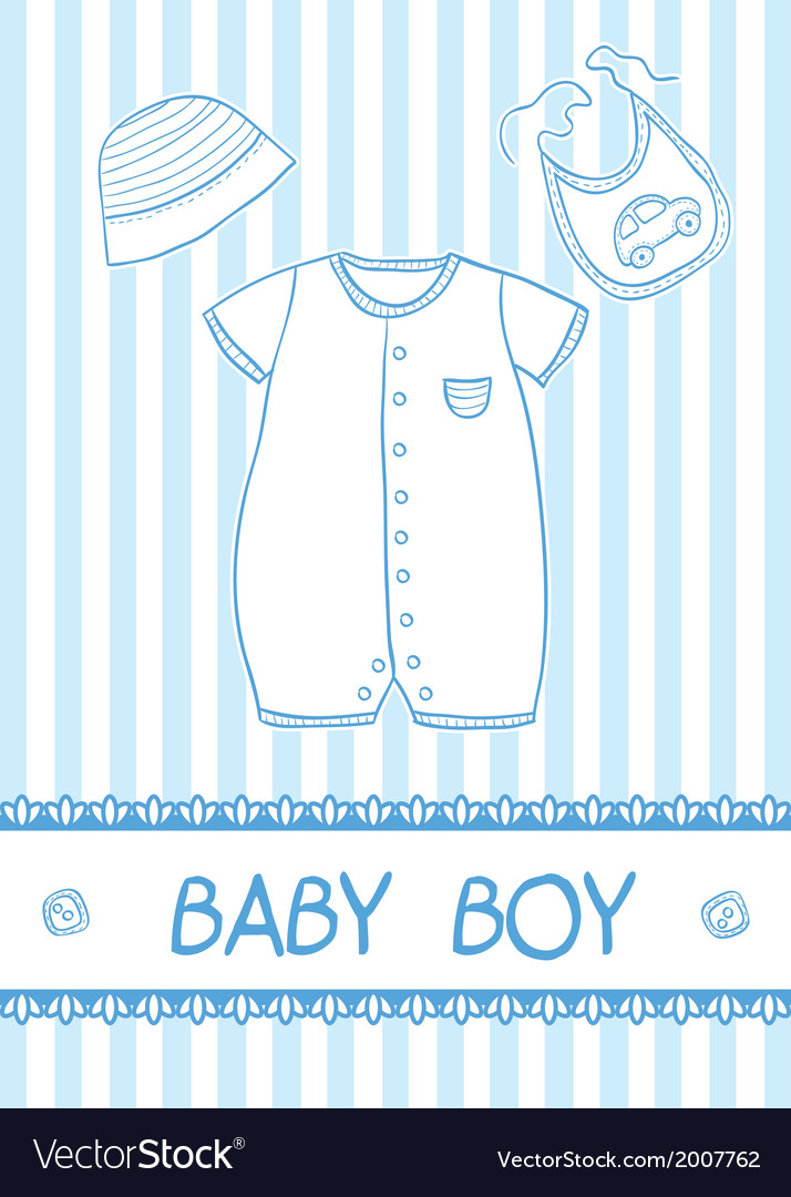 Baby boy card Royalty Free Vector Image - VectorStock